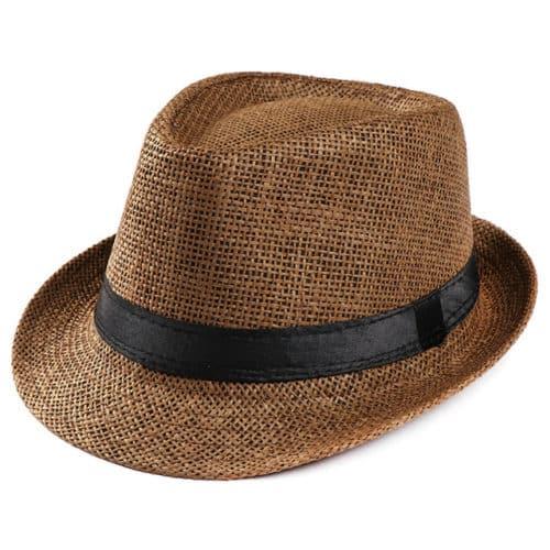 Coffee Fedora Hat