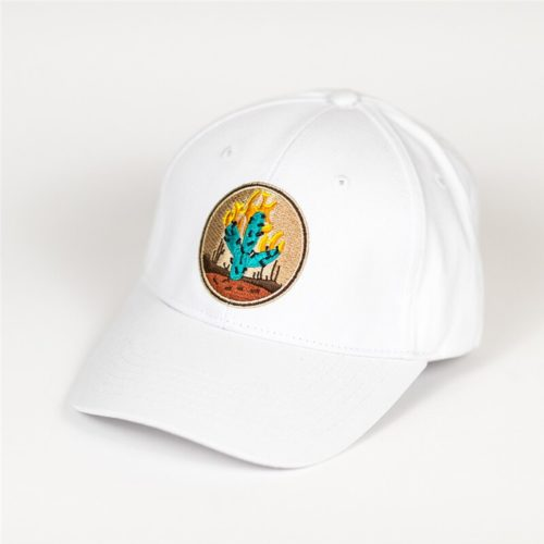 Fiery Cactus Hat white
