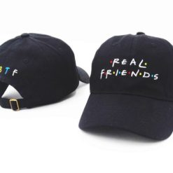 Real Friend Hat Black