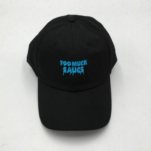 Too Much Sauce Hat Black