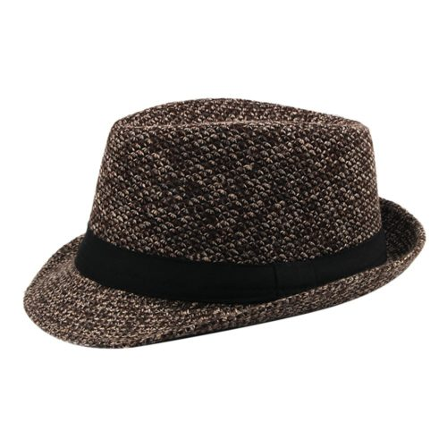 Vintage Coffee Fedora Hat